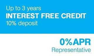 3 Years Interest Free Credit Available