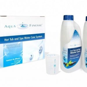 Aquafinesse with Chlorine hot tub care chemicals from Leicester Hot Tub Hire